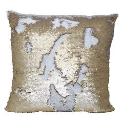 Bwood Mermaid Sequin Throw Pillow