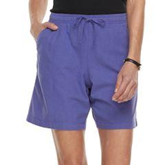 Women's Gloria Vanderbilt Lucy Sheeting Drawstring Shorts