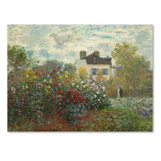 Trademark Fine Art The Artists Garden In Argenteuil Canvas Wall Art