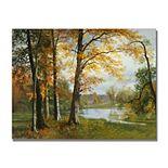 Trademark Fine Art A Quiet Lake Canvas Wall Art