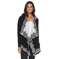 Women's Napa Valley Jacquard Draped Cardigan
