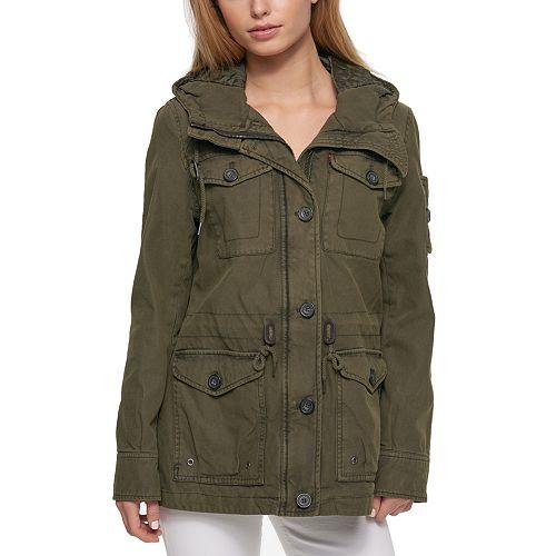 Women's Levi's® Hooded Anorak Military Jacket