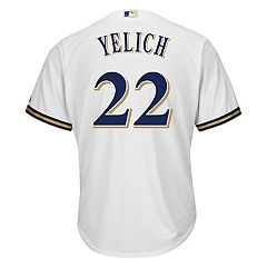 7ba8fea47 Men s Majestic Milwaukee Brewers Christian Yelich Replica Jersey