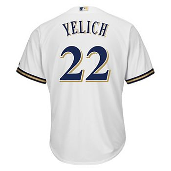 the best attitude 93d89 25f3d Men's Majestic Milwaukee Brewers Christian Yelich Replica Jersey