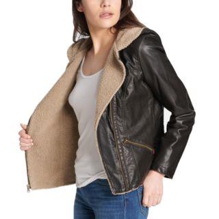 Women's Levi's® Hooded Asymmetrical Faux-Leather Moto Jacket