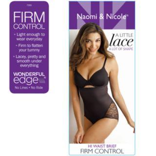 Women's Naomi & Nicole A Little Lace a Lot of Shape Hi-Waist Brief 7355