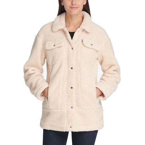 Women's Levi's® Long Sherpa Trucker Jacket