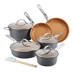 Ayesha Curry Home Collection 11-piece Hard-Anodized Aluminum Cookware Set