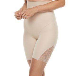 Women's Naomi & Nicole A Little Lace a Lot of Shape Hi-Waist Thigh Slimmer Brief 7359