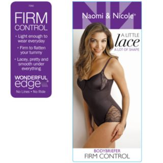 Women's Naomi & Nicole A Little Lace a Lot of Shape Bodybriefer 7350