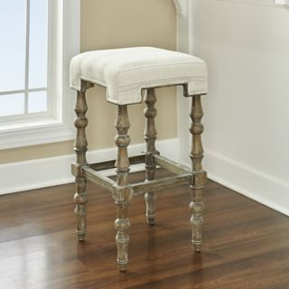 Linon Shelly Rustic Backless Bar Stool