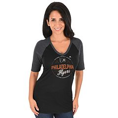 Women's Majestic Philadelphia Flyers Behind the Win Tee