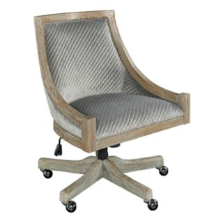 Linon Mimi Adjustable Quilted Office Desk Chair