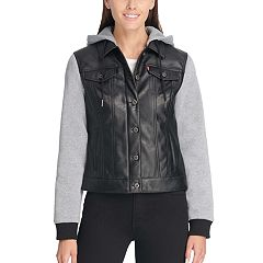 Women's Levi's® Hooded Mixed-Media Trucker Jacket