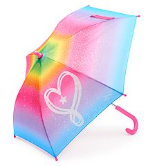Girls 4-16 JoJo Siwa Rainbow Glitter Heart Umbrella