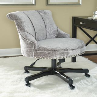 Linon Tessa Faux-Crocodile Office Desk Chair