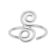 Sterling Summer Scrollwork Toe Ring