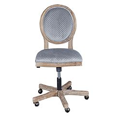 Linon Erin Rustic Sequin Office Desk Chair