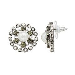 Simply Vera Vera Wang Simulated Pearl & Crystal Stud Earrings