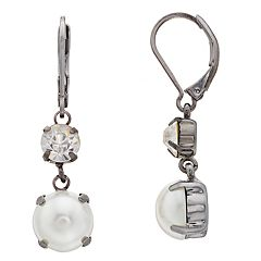 Simply Vera Vera Wang Simulated Pearl & Crystal Drop Earrings