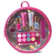 Girls Mermaid Nail Polish, Lip Gloss & Eyeshadow Cosmetic Case Set