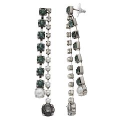 Simply Vera Vera Wang Simulated Pearl & Crystal Linear Drop Earrings