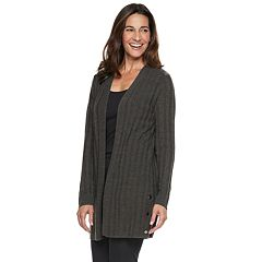 Women's Napa Valley Shadow Stripe Button-Hem Cardigan