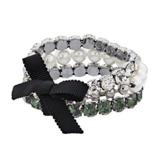 Simply Vera Vera Wang Faceted Stone & Simulated Pearl Stretch Bracelet Set