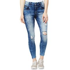 Juniors' Wallflower High-Waisted Sassy Stacked Ankle Jeans