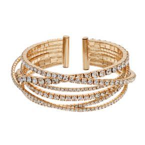 Simply Vera Vera Wang Rhinestone Chain Bangle Bracelet