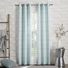 Sun Zero 2-panel Sterner Trellis Blackout Window Curtain