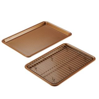 Ayesha Curry Bakeware 3-piece Copper Cookie Pan Set