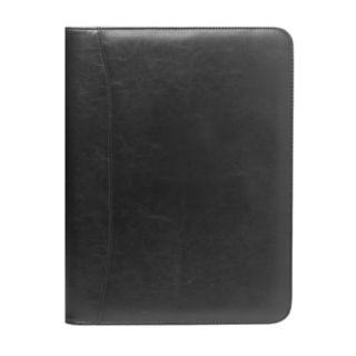 """Natico 13"""" x 10"""" Black Zippered Portfolio"""