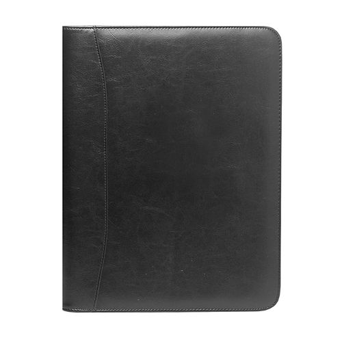 "Natico 13"" x 10"" Black Zippered Portfolio"