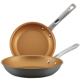 Ayesha Curry Home Collection Hard-Anodized Aluminum Skillet Twin Pack
