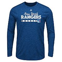 Men's Majestic New York Rangers Crash Tee