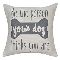 Spencer Home Decor ''Dog Person'' Throw Pillow