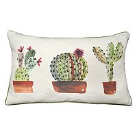 Spencer Home Decor Cactus Pots Oblong Throw Pillow