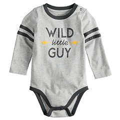 Baby Boy Jumping Beans® 'Wild Little Guy' Softest Fleece Bodysuit
