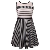 Girls 7-16 Bonnie Jean Knit Sleeveless Striped Dress