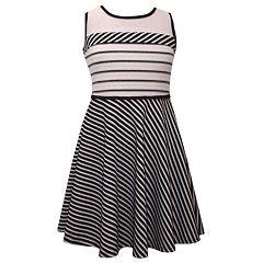 Girls 7-16 Bonnie Jean Knit Sleeveless Striped Dress