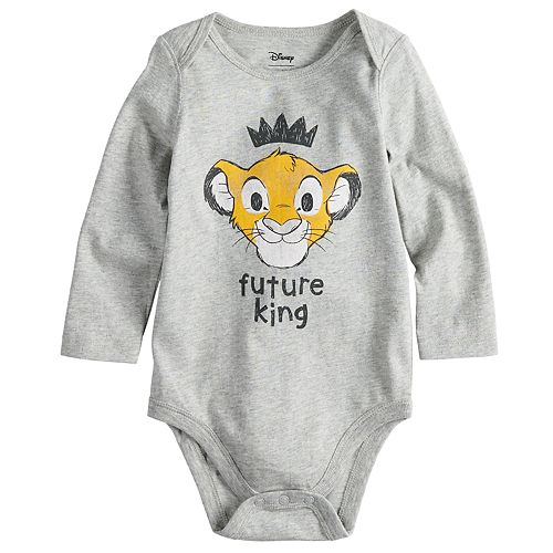 "Disney's The Lion King Baby Boy ""Future King"" Simba Bodysuit by Jumping Beans®"