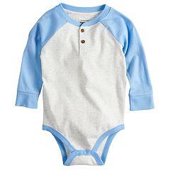 Baby Boy Jumping Beans® Graphic Raglan Henley Bodysuit