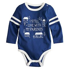 Baby Boy Jumping Beans® Striped Sleeves Bodysuit