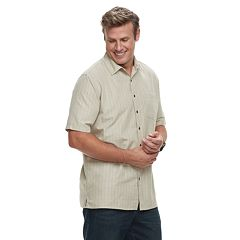 Big & Tall Croft & Barrow® Regular-Fit Microfiber Woven Easy-Care Button-Down Shirt