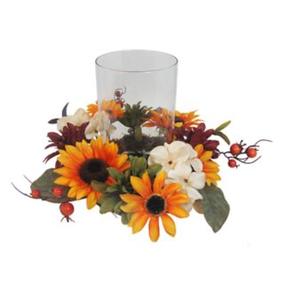 SONOMA Goods for Life? Artificial Sunflower Hurricane Candle Holder
