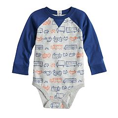 Baby Boy Jumping Beans® Graphic Raglan Bodysuit