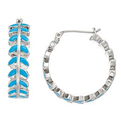 Simply Vera Vera Wang Teal Hoop Earrings