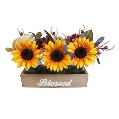SONOMA Goods for Life™ Artificial Sunflower Box Table Decor