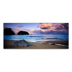 Trademark Fine Art Kaiteriteri Sunset Canvas Wall Art
